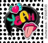 fashion patch badges elements... | Shutterstock .eps vector #572035735