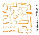 set of isolated arrows   Shutterstock . vector #572039161