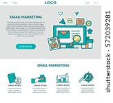 email marketing .concept for... | Shutterstock .eps vector #572039281