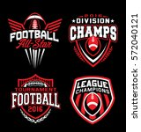 football sport emblem set | Shutterstock .eps vector #572040121