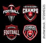 football sport emblem set | Shutterstock .eps vector #572040121