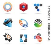 various colorful abstract icons ... | Shutterstock .eps vector #57204193