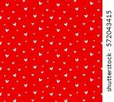 seamless heart pattern vector... | Shutterstock .eps vector #572043415