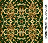 vintage baroque floral seamless ... | Shutterstock .eps vector #572049055