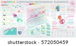 colorful corporate infographic... | Shutterstock .eps vector #572050459