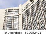 facade of residential building | Shutterstock . vector #572052421