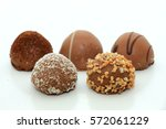 big luxury chocolates  bonbons... | Shutterstock . vector #572061229