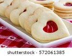Heart Shaped Linzer Cookies...
