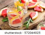 refreshing drink  grapefruit... | Shutterstock . vector #572064025