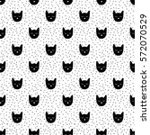 Seamless Pattern  Cat Art...