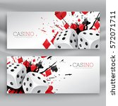 set of casino banners with... | Shutterstock .eps vector #572071711