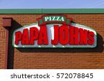 Small photo of Indianapolis - Circa February 2017: Papa John's Take-Out Pizza Restaurant. Papa John's is the third largest take-out and pizza delivery chain in the world IV
