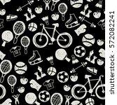 chalkboard hand drawn doodle... | Shutterstock .eps vector #572082241