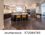 luxury modern kitchen and... | Shutterstock . vector #572084785