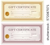 certificate gift coupon... | Shutterstock .eps vector #572087071
