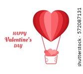 happy valentine's day concept... | Shutterstock .eps vector #572087131