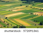agricultural fields  aerial view   Shutterstock . vector #572091361