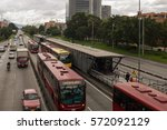 bogota   colombia  25th january.... | Shutterstock . vector #572092129