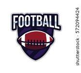 american football logo sport | Shutterstock .eps vector #572094424