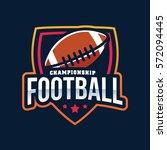 american football logo sport | Shutterstock .eps vector #572094445