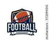 american football logo sport | Shutterstock .eps vector #572094541