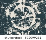 grunge cracks effect texture.... | Shutterstock .eps vector #572099281
