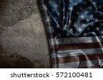 usa flag vintage background | Shutterstock . vector #572100481