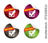 high quality round stickers... | Shutterstock .eps vector #572100511