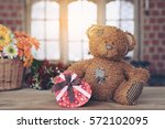 Teddy Bear With A Gift Box On ...