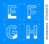 construction sketches of e f g... | Shutterstock .eps vector #572102575