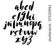 hand drawn font made by dry... | Shutterstock .eps vector #572103961