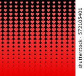 abstract halftone hearts...   Shutterstock .eps vector #572105401