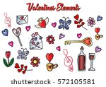 valentines day set   | Shutterstock .eps vector #572105581