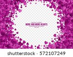 abstract vector 3d hearts on... | Shutterstock .eps vector #572107249
