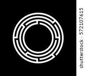 circle maze icon.   Shutterstock .eps vector #572107615
