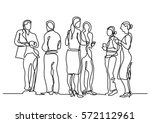 continuous line drawing of... | Shutterstock .eps vector #572112961