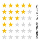 vector collection of rating... | Shutterstock .eps vector #572113891
