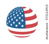 sphere of american flag. | Shutterstock .eps vector #572113915