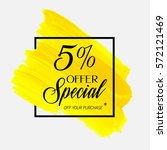 sale special offer 5  off sign...   Shutterstock .eps vector #572121469