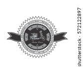scooter club label badge | Shutterstock . vector #572122897