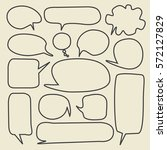 set of speech bubbles  | Shutterstock .eps vector #572127829