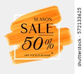 sale season 50  off sign over... | Shutterstock .eps vector #572133625