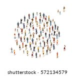 group of people in the shape of ... | Shutterstock .eps vector #572134579