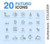 20 artificial intelligence icon ...