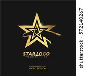 gold star logo vector in... | Shutterstock .eps vector #572140267