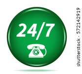 24 7 support phone icon.... | Shutterstock . vector #572142919