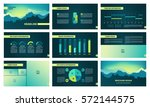 page template with elements for ... | Shutterstock .eps vector #572144575