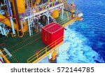 container on lay down area... | Shutterstock . vector #572144785
