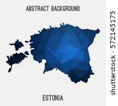 estonia in geometric polygonal...