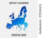 european union eu in geometric... | Shutterstock .eps vector #572146111